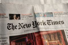 The new york times daily royalty free stock images