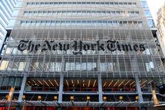 NEW YORK TIMES głowy budynek biurowy fotografia stock