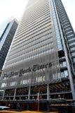 NEW YORK TIMES głowy budynek biurowy obraz royalty free