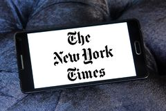 New York Times gazety logo zdjęcia royalty free