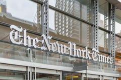 New York Times-Hoofdkwartier in de Stad van Manhattan New York stock afbeeldingen