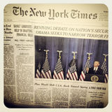 The New York Times newspaper. And Barrack Obama stock image