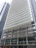 Construcción de New York Times Fotos de archivo libres de regalías