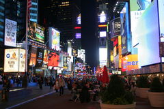 New York Times Square. Famous Times Square, on Broadway, a landmark in New York city Stock Image