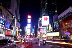 New York Times Square. NEW YORK - JUNE 7: New York Times Square night scene on June 7, 2008 stock images