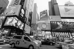 New York, Times Square - Times Square do tráfego, New York, Midtown, Manhattan Imagens de Stock