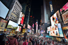 New York Times Square at night Royalty Free Stock Photos