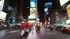 New York Times Square by night  - videoclip Manhattan New York   APRIL 25,  2015 stock footage