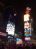 New york times square. Night view of times square royalty free stock image