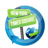 New York, Times square road symbol illustration Royalty Free Stock Photography