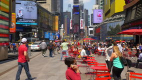 New york times square summer day relax place near flag panorama 4k usa. Usa new york times square summer day relax place near flag panorama 4k stock video