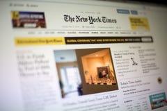 New York Times strona internetowa zdjęcia stock