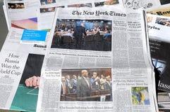 NEW YORK TIMES WEEKENDOWY KOSZTUJE $6 00 DOLARS usa Obraz Stock