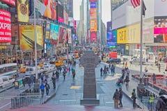 New York Times zimy Kwadratowy ruchliwie dzień obrazy stock