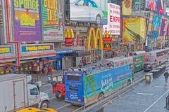 New York Times zimy Kwadratowy ruchliwie dzień zdjęcia royalty free