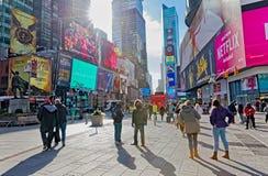 New York Times zimy Kwadratowy ruchliwie dzień zdjęcia stock