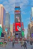 New York Times zimy Kwadratowy ruchliwie dzień obrazy royalty free