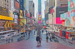 New York Times zimy Kwadratowy ruchliwie dzień obraz royalty free