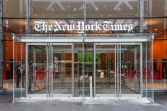 New- York Timesheadquarters Lizenzfreie Stockfotos