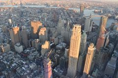 New York from the top royalty free stock image