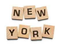 New York trätegelplattor arkivfoto