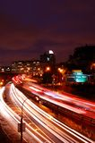 New York Traffic. At night Royalty Free Stock Photography