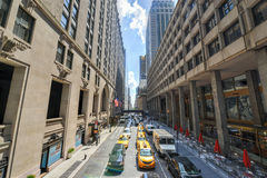 New York Traffic along 42nd Street Royalty Free Stock Image