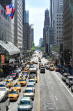 New York Traffic along 42nd Street Royalty Free Stock Images