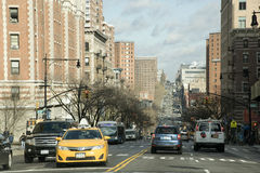 New York traffic Amsterdam Ave NYC Stock Photo