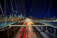 New York Traffic in Motion Stock Photo