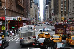 New York Traffic and police road block Royalty Free Stock Photography