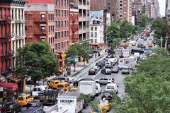 New York trafik Fotografering för Bildbyråer