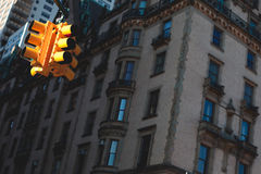 New York trafikljus Arkivbilder