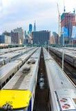 New York train parking facility Stock Photos