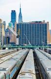 New York train parking facility Stock Photography
