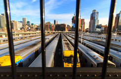 New York train parking facility Stock Image