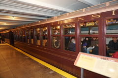 New York transportmuseum 93 Arkivbilder