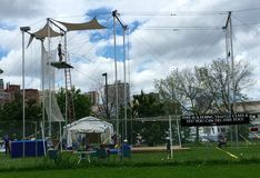 New York Trapeze School in Chicago Royalty Free Stock Image