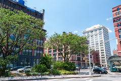 New York Tribeca streets. Scenic view of New York Tribeca streets Stock Photo