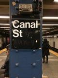 New York tunnelbana Fotografering för Bildbyråer