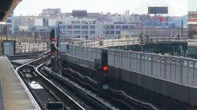 New York tunnelbana - gångtunnelsignal Arkivfoto