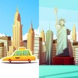 New York Twee Verticale Banners royalty-vrije illustratie