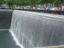 New York. Twins fountain view,  New York Stock Images