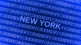 New York typed on blue screen Stock Image