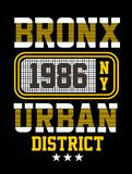 New York typography design, Vector image royalty free illustration