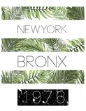 New york typography with floral illustration. T shirt graphic . Vectors fashion style Royalty Free Stock Photography
