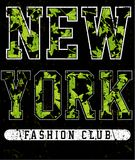 New york typography with floral illustration. T shirt graphic . Vectors fashion style Royalty Free Stock Image