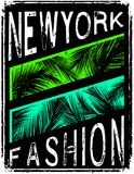 New york typography with floral illustration. T shirt graphic . Vectors art fashion Stock Photography