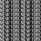 New York typography seamless background pattern. Vector illustration Stock Photos