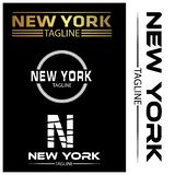 New York typography set, flat designs. EPS file available. see more images related royalty free illustration